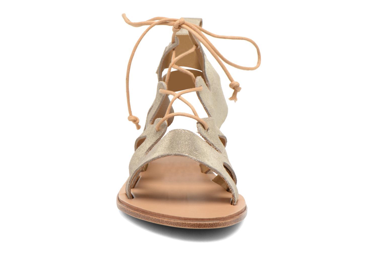 Sandales et nu-pieds André Nala Or et bronze vue portées chaussures
