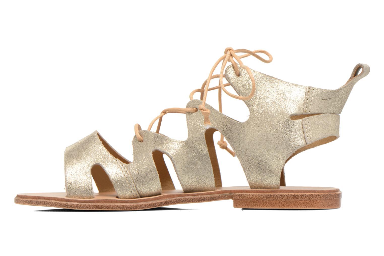 Sandales et nu-pieds André Nala Or et bronze vue face