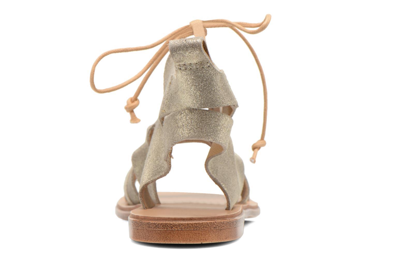 Sandales et nu-pieds André Nala Or et bronze vue droite