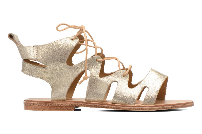 Sandales et nu-pieds André Nala Or et bronze vue derrière