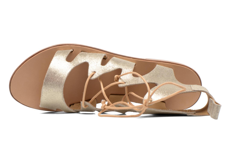 Sandales et nu-pieds André Nala Or et bronze vue gauche
