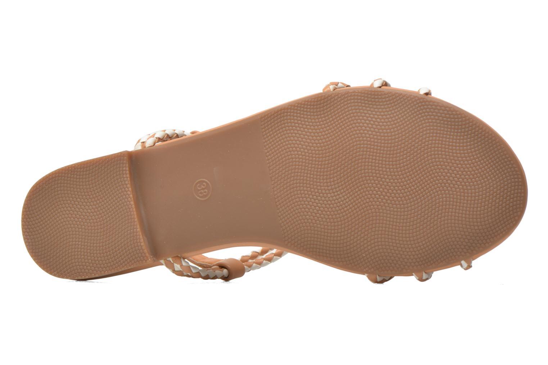 Sandales et nu-pieds André Nectar Beige vue haut