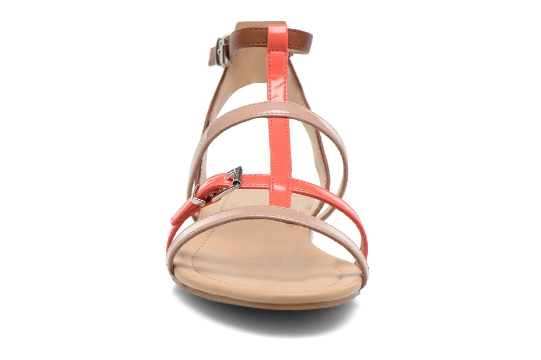 Sandales et nu-pieds André Nectarine Multicolore vue portées chaussures