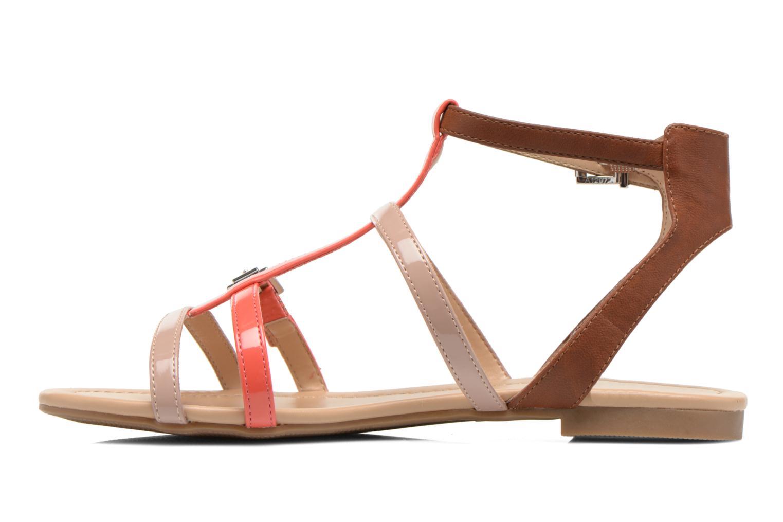 Sandales et nu-pieds André Nectarine Multicolore vue face