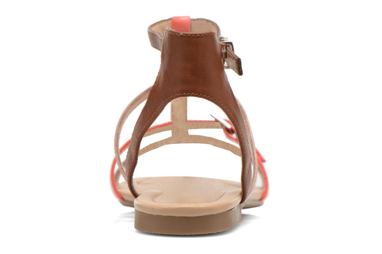 Sandales et nu-pieds André Nectarine Multicolore vue droite