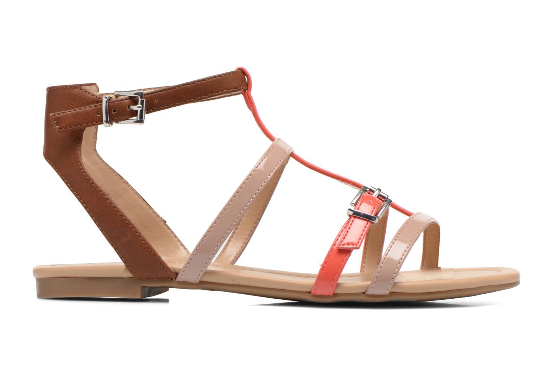 Sandales et nu-pieds André Nectarine Multicolore vue derrière