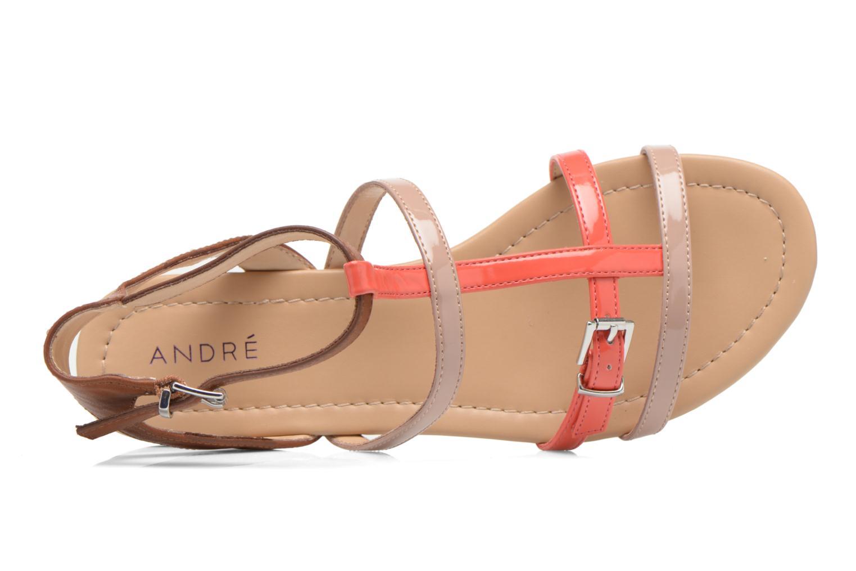 Sandales et nu-pieds André Nectarine Multicolore vue gauche