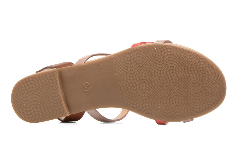 Sandales et nu-pieds André Nectarine Multicolore vue haut