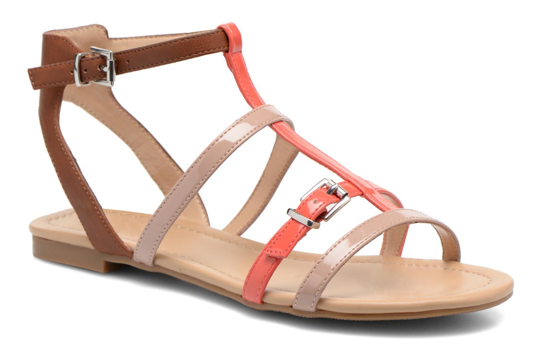 Sandales et nu-pieds André Nectarine Multicolore vue détail/paire