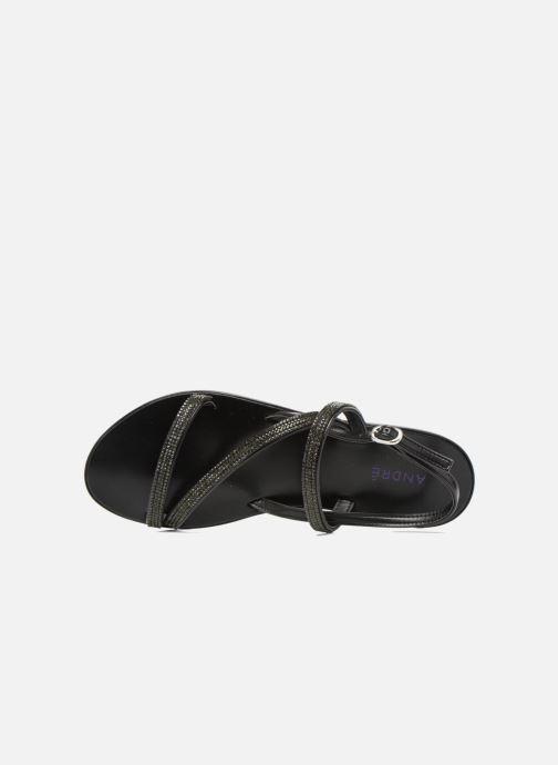 Sandales et nu-pieds André Night Noir vue gauche