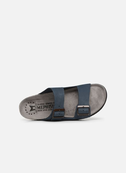 Sandals Mephisto Nerio Blue view from the left