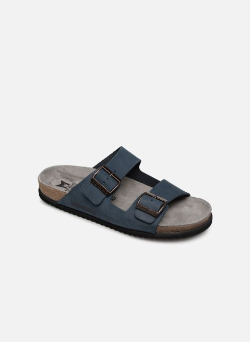 Sandals Mephisto Nerio Blue detailed view/ Pair view