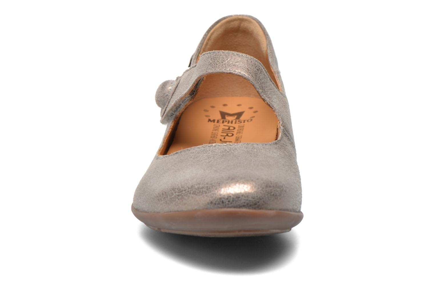 Ballerines Mephisto ODALYS Gris vue portées chaussures