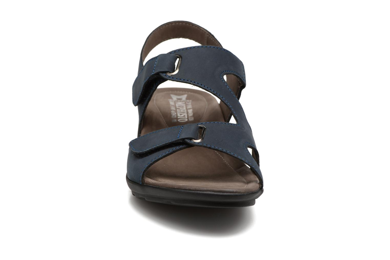 Sandales et nu-pieds Mephisto PARIS Bleu vue portées chaussures