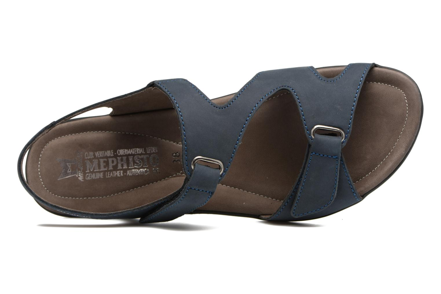 Sandals Mephisto PARIS Blue view from the left
