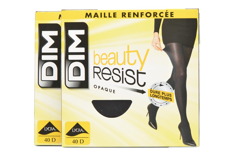 Chaussettes et collants Dim Collant BEAUTY RESIST OPAQUE Pack de 2 Noir vue détail/paire
