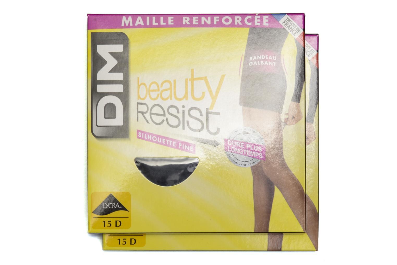 Chaussettes et collants Dim Collant BEAUTY RESIST SILHOUETTE FINE Pack de 2 Noir vue détail/paire