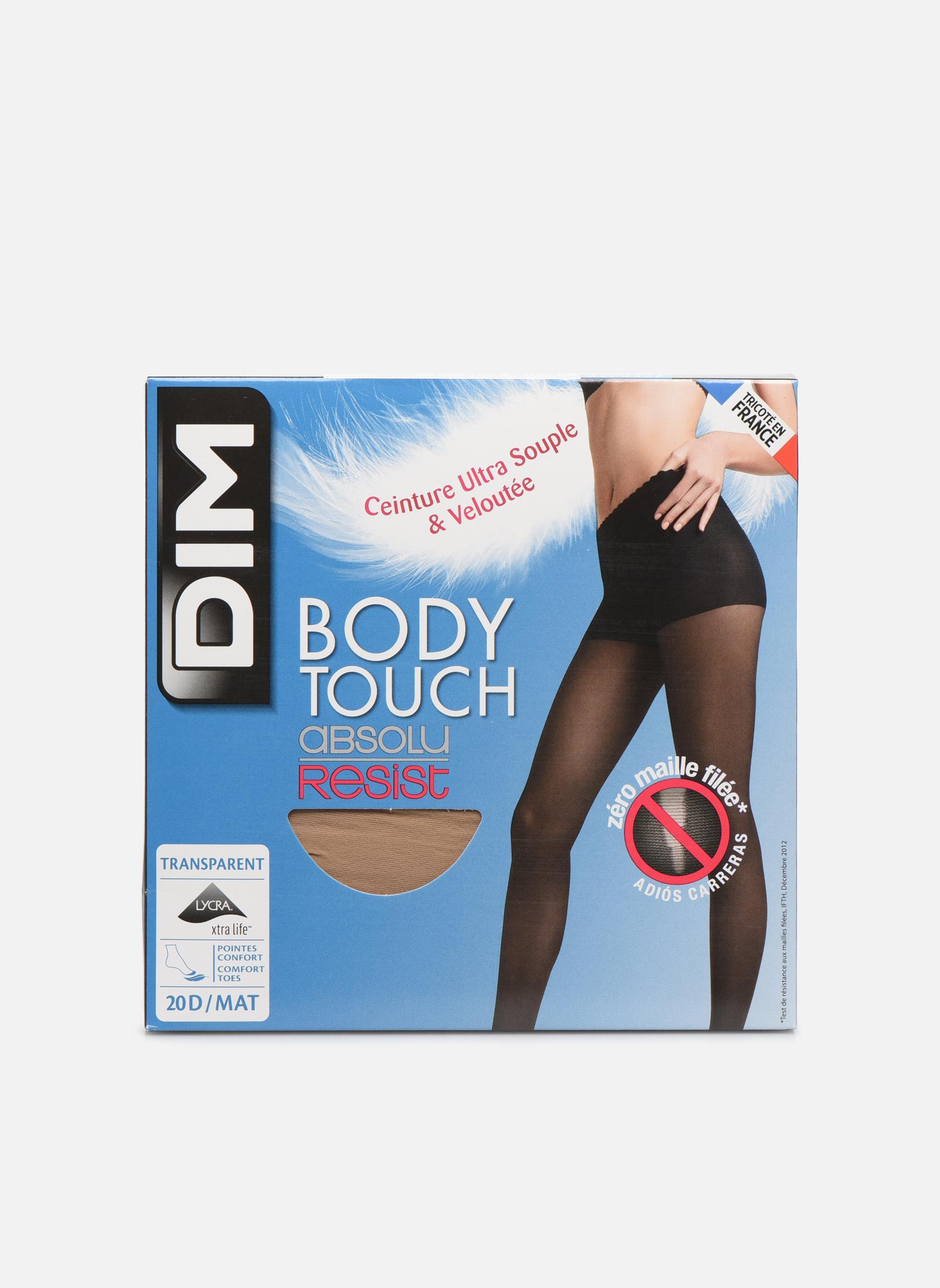 Chaussettes et collants Dim Collant BODYTOUCH ABSOLU RESIST Incolore vue détail/paire