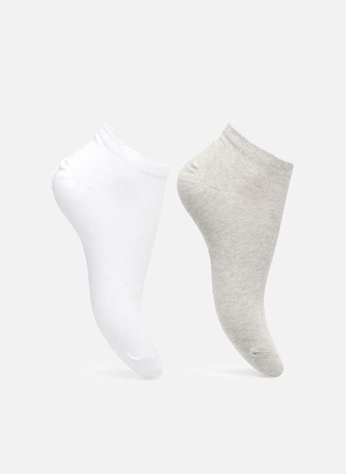 Chaussettes et collants Sarenza Wear Lot de 2 paires de chaussettes invisibles en coton Femme Blanc vue détail/paire