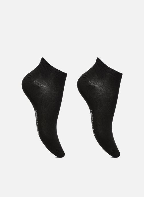 Chaussettes et collants Sarenza Wear Chaussettes invisibles Femme unies Pack de 2 Coton Noir vue détail/paire