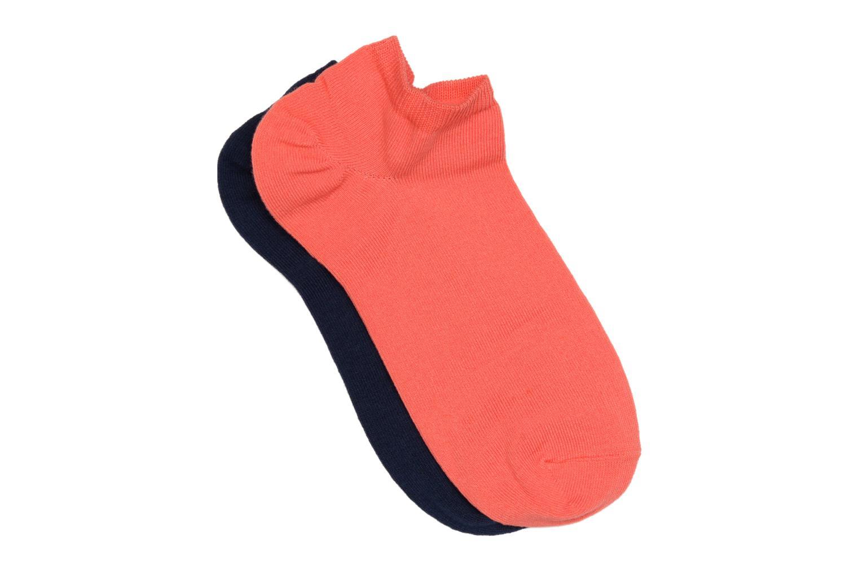 Chaussettes et collants Sarenza Wear Chaussettes invisibles unies Pack de 2 Orange vue détail/paire