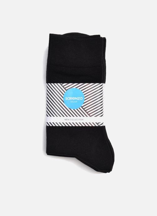 Chaussettes et collants Sarenza Wear Chaussettes Homme Pack de 5 Unies coton Noir vue portées chaussures