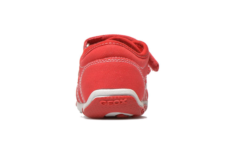 Baskets Geox B Balu' Boy B5236A Rouge vue droite