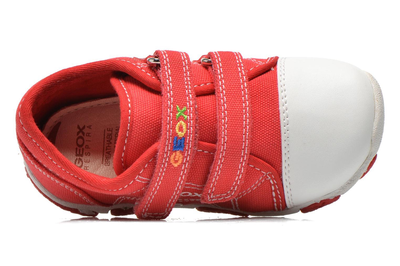 Baskets Geox B Balu' Boy B5236A Rouge vue gauche