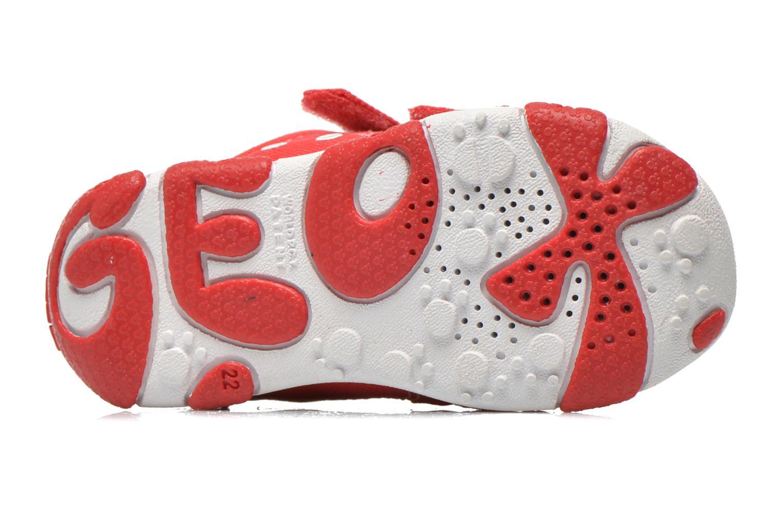 Baskets Geox B Balu' Boy B5236A Rouge vue haut