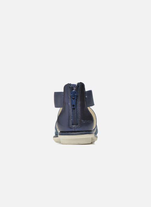 Sandales et nu-pieds Geox JR Sandal Milk J52D1E Bleu vue droite