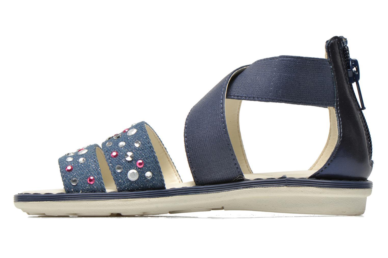 Sandales et nu-pieds Geox JR Sandal Milk J52D1E Bleu vue face