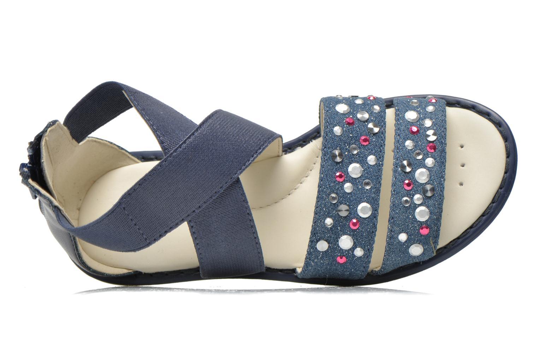 Sandales et nu-pieds Geox JR Sandal Milk J52D1E Bleu vue gauche
