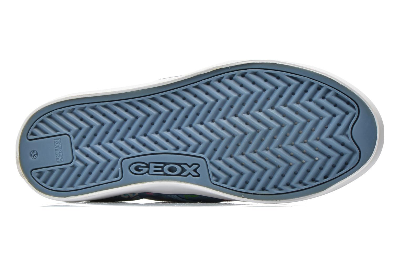 Baskets Geox JR Ciak Girl J5204E Bleu vue haut