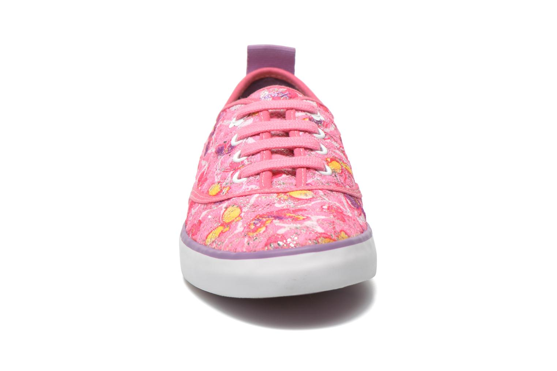 Sneakers Geox JR Ciak Girl J5204E Rosa modello indossato