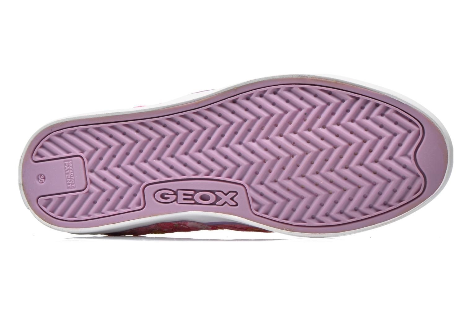 Baskets Geox JR Ciak Girl J5204E Rose vue haut