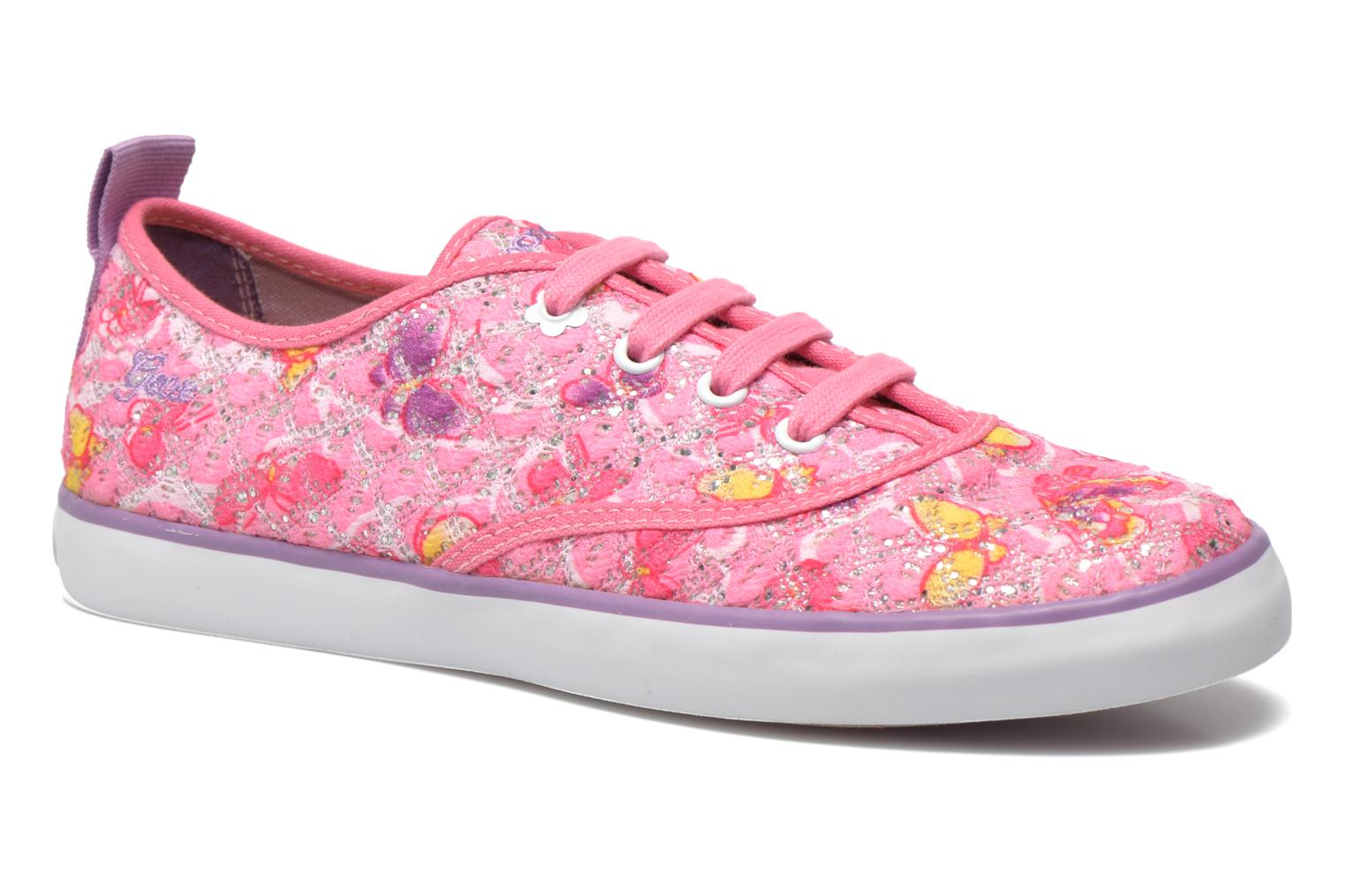 Baskets Geox JR Ciak Girl J5204E Rose vue détail/paire