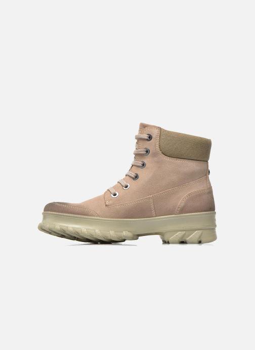 Boots en enkellaarsjes Geox D Yeti B ABX D44U1B Beige voorkant