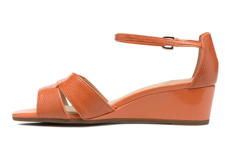 Sandales et nu-pieds Geox D Lupe D5283C Orange vue face
