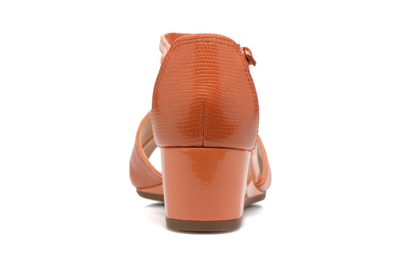 Sandales et nu-pieds Geox D Lupe D5283C Orange vue droite