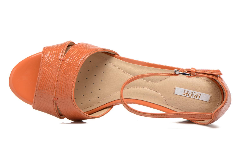 Sandales et nu-pieds Geox D Lupe D5283C Orange vue gauche