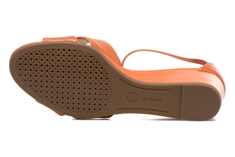 Sandales et nu-pieds Geox D Lupe D5283C Orange vue haut