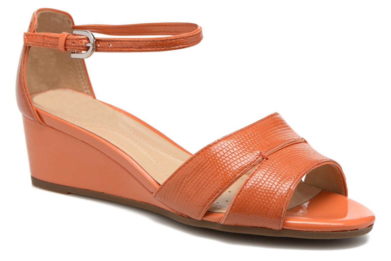 Sandales et nu-pieds Geox D Lupe D5283C Orange vue détail/paire