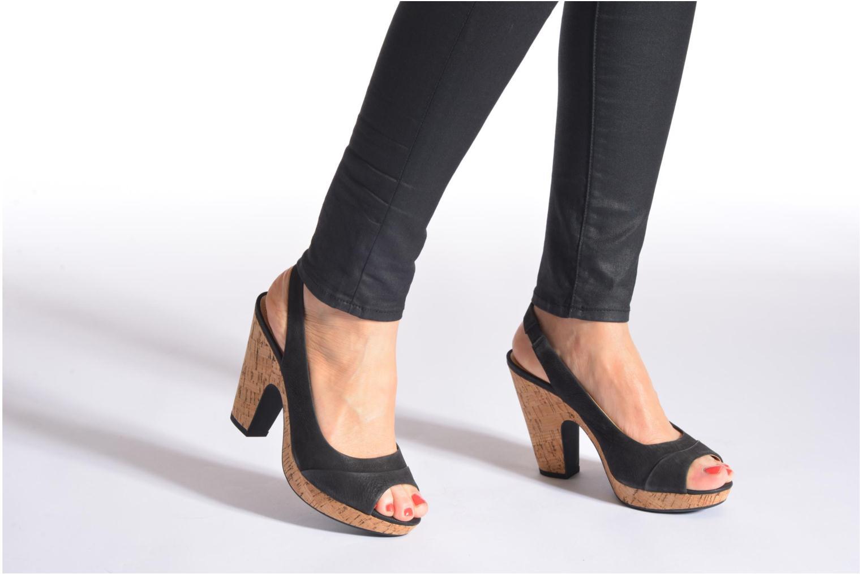 Sandales et nu-pieds Geox D Nurit D5271B Beige vue bas / vue portée sac
