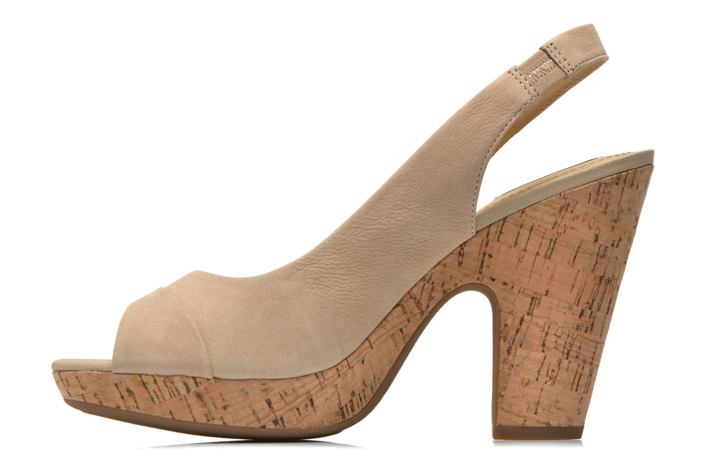 Sandales et nu-pieds Geox D Nurit D5271B Beige vue face