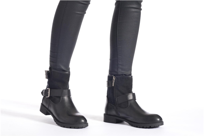 Bottines et boots Refresh Melina-61416 Noir vue bas / vue portée sac