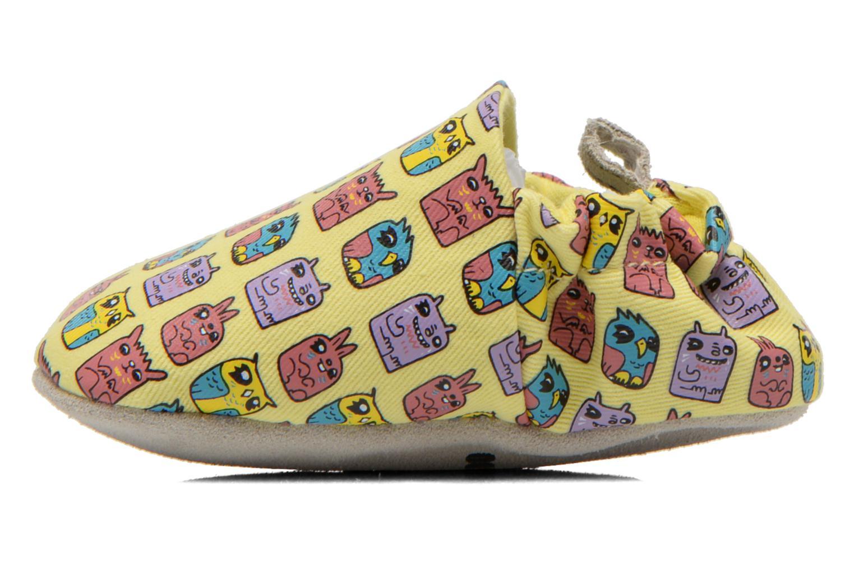 Pantoffels Poco Nido ANIMAL CUBES Geel voorkant