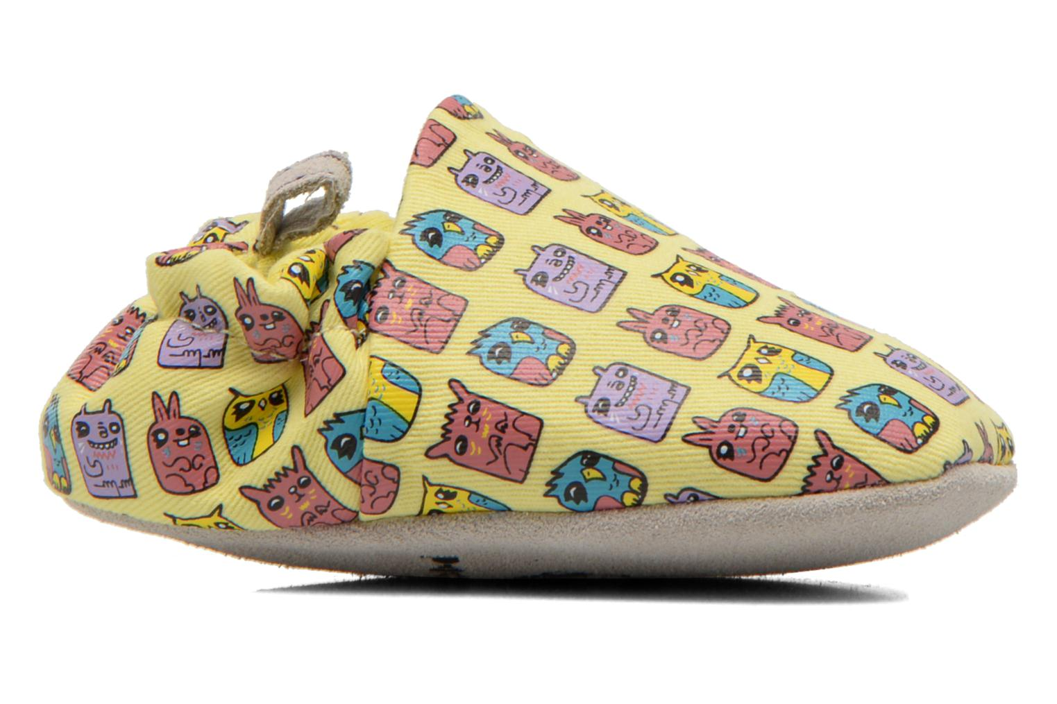 Slippers Poco Nido ANIMAL CUBES Yellow back view