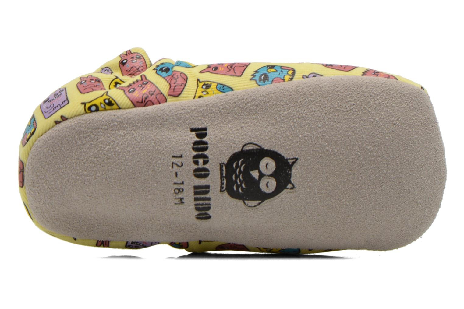 Slippers Poco Nido ANIMAL CUBES Yellow view from above