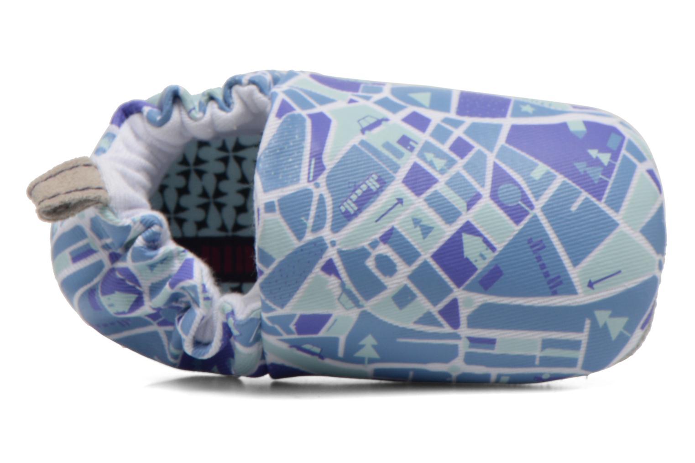 Chaussons Poco Nido MAPS Bleu vue gauche