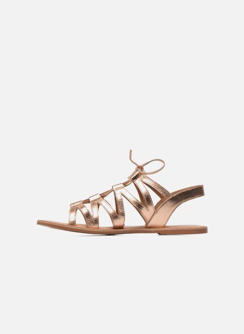 Sandalias I Love Shoes SUGLI Leather Oro y bronce vista de frente